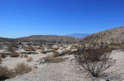 Pustynny teren blisko Tysiąc palmy oazy prezerw w Coachella Zdjęcia Stock