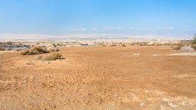 Pustynny wadiego Al Kharrar w ziemi święta w Jordania Obrazy Royalty Free
