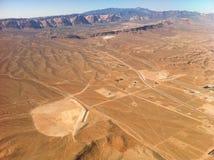 Pustynny widok od samolotu Zdjęcia Royalty Free