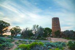 Pustynny widok wieży obserwacyjnej punkt Obrazy Royalty Free