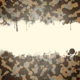 Pustynny wojsko kamuflażu tło z przestrzenią dla t Obraz Royalty Free