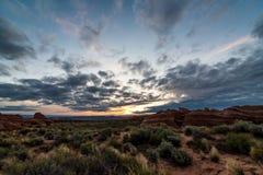 Pustynny wschód słońca Zdjęcie Royalty Free