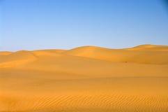 pustynny wydmowy Oman piasków wahiba Zdjęcie Stock