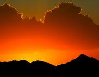 pustynny zmierzch Fotografia Royalty Free