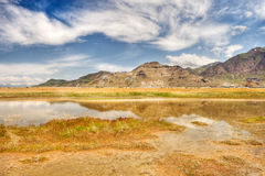 pustynnych odbić nawierzchniowa woda Fotografia Stock
