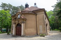 Free Puszczykowo, Wielkopolskie / Polska - May, 22, 2019: A Historic Church In A Small Town Near Poznań. An Old Neat Christian Temple Stock Photography - 148363712