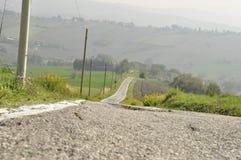 Puszek droga miasteczko zdjęcia stock