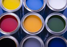 puszek farby Fotografia Stock