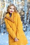 Puszek kurtka dla dziewczyny fotografia royalty free