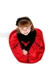 puszek ubiera dziewczyny czerwień małą przyglądającą obrazy stock