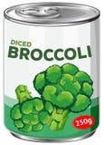 A puszka Diced brokuły Obraz Royalty Free
