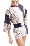puszka mody przyglądająca kobieta fotografia stock