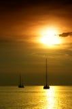 puszka półmroku krajobrazu żaglówki tropikalne tropikalny krajobrazu Zdjęcia Royalty Free