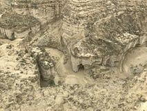 Puszka widoku jary przy parka narodowego Makran kabotażowem Zdjęcie Stock
