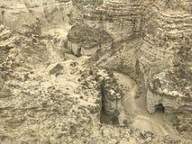 Puszka widoku jary przy parka narodowego Makran kabotażowem Fotografia Royalty Free