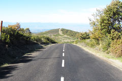 puszka wzgórza droga Obraz Royalty Free