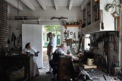 Puszkarz i założyciel w koloniście Williamsburg, Virginia fotografia stock