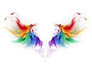 Puszyści tęcz skrzydła Zdjęcie Royalty Free