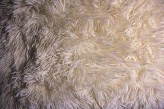 Puszysta beżowa poduszka w makro- obraz royalty free