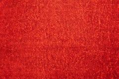 Puszysta miękka część i delikatny czerwony tło denny ręcznik dla tła zdjęcia stock