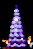 puszyste świąteczne lampki tree Obrazy Stock