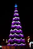 puszyste świąteczne lampki tree Zdjęcie Stock