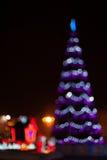 puszyste świąteczne lampki tree Zdjęcia Royalty Free