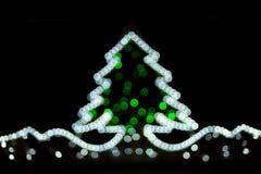puszyste świąteczne lampki tree Obraz Royalty Free
