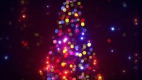 puszyste świąteczne lampki tree Zdjęcia Stock