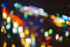 puszyste miast światła Obraz Royalty Free