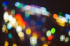 puszyste miast światła Fotografia Stock