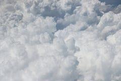Puszysty biały chmura odgórny widok Obrazy Stock