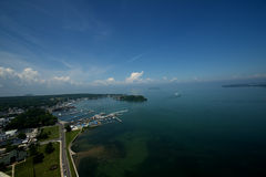 Put-in-Bay island. Overlooking lake Erie from the top of the monument on a prefect day where you can see for miles Stock Photos