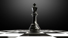 Put the chess piece on a chessboard, ending king.