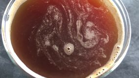 Put coffee in a cup. Food boil stock video