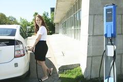 Put Energy on Hybrid Vehicle Stock Photo