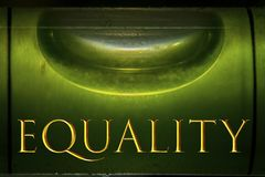 Put the equality at the right place. For everyone every time and everywhere Royalty Free Stock Photos