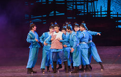 """Put on the father's shirt-Dance drama """"The Dream of Maritime Silk Road"""" Royalty Free Stock Images"""