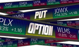 Put Option Stock Market Trade Buy Fixed Price Shares Investment 3d Illustration