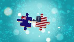 Put the Puzzle to Australia and USA Flag royalty free illustration