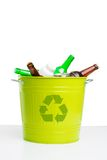 Put rubbish in trashcan! Royalty Free Stock Images