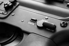 Put it safe. Gun switch on safe mode Royalty Free Stock Images