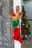 Put socks for Christmas. Gifts Stock Photos