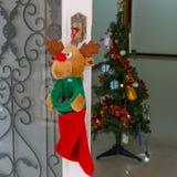 Put socks for Christmas Royalty Free Stock Image