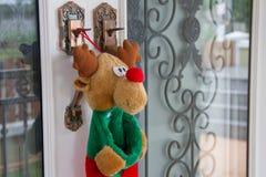 Put socks for Christmas Royalty Free Stock Photos
