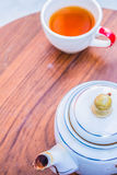 Put the teapot Royalty Free Stock Image