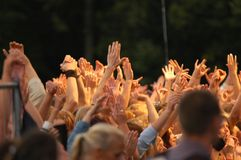 Put your hands in the air! royalty free stock images