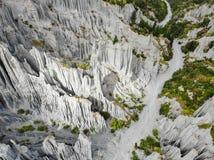 Putangirua-Berggipfel, Neuseeland lizenzfreies stockbild
