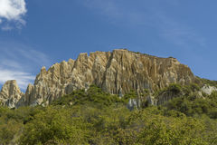 Putangirua Pinnacles. New Zealand Royalty Free Stock Photos