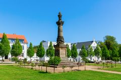Circus square in Putbus on Ruegen, Germany Royalty Free Stock Image